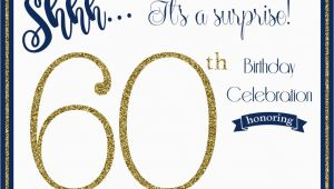 Surprise 60th Birthday Party Invitations Template Free Printable 60th Birthday Invitation Templates Free
