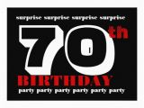 Surprise 70th Birthday Invitations Templates 70th Surprise Birthday Party Invitation Template 5 Quot X 7