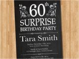 Surprise 70th Birthday Invitations Templates Free 60th Surprise Invitation Template orderecigsjuice Info
