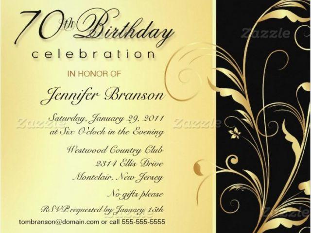 Surprise 70th Birthday Invitations Templates Invitation Wording For