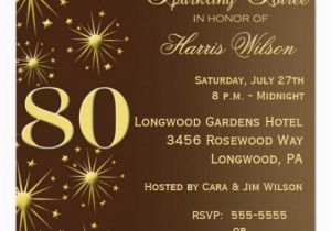 Surprise 80th Birthday Party Invitation Wording 15 Sample Invitations Templates Ideas