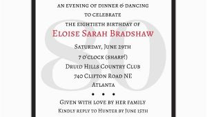 Surprise 80th Birthday Party Invitation Wording Classic 80th Birthday Red Surprise Invitations Paperstyle