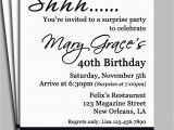 Surprise Birthday Invitation Message Black Damask Surprise Party Invitation Printable or Printed