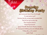 Surprise Birthday Invitation Message Surprise Birthday Party Invitation Wording Wordings and