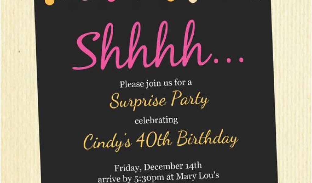 Download By SizeHandphone Tablet Desktop Original Size Back To Surprise Birthday Invitation Wording For Adults