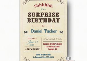 Surprise Birthday Invitation Wording For Adults Adult Invites Vintage Party