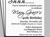 Surprise Birthday Invitation Wording for Adults Black Damask Surprise Party Invitation Printable or Printed