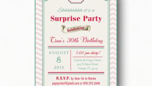Surprise Birthday Invitation Wording for Adults Surprise 30th Birthday Invitation Adult Surprise Birthday