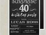 Surprise Birthday Invitation Wording for Adults Surprise 40th Birthday Invitation Adult Birthday