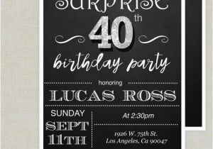 Surprise Birthday Invitation Wording for Adults Surprise 40th Birthday Invitation Adult Birthday