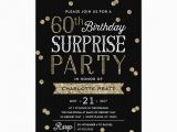 Surprise Birthday Party Invitation Wording for Adults 60th Glitter Confetti Surprise Party Invitation Adult