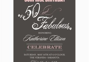 Surprise Birthday Party Invitation Wording for Adults Fabulous Script 50th Birthday Invitations Paperstyle