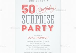Surprise Birthday Party Invitation Wording for Adults Surprise 50th Birthday Party Invitation Wording