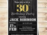 Surprise Birthday Party Invitations for Men 30th Birthday Surprise Party Gold Black Mens 30th