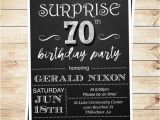 Surprise Birthday Party Invitations for Men Surprise 70 Birthday Party Invitations by Diypartyinvitation