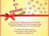 Surprise Birthday Party Invite Wording Surprise Birthday Party Invitation Wording Wordings and