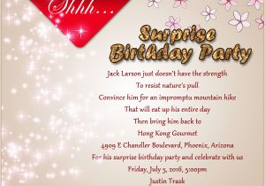 Surprise Birthday Party Invite Wording Invitation Wordings And