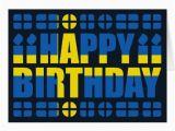 Swedish Birthday Card Sweden Flag Birthday Card Zazzle