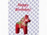 Swedish Birthday Card Swedish Horse Birthday Card Zazzle