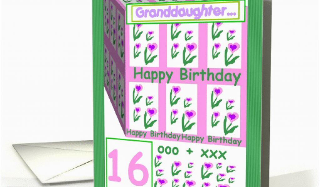 Sweet 16 Birthday Cards For Granddaughter Granddaughter Sweet 16
