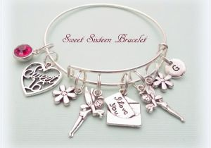 Sweet 16 Birthday Gift Ideas for Her Sweet 16 Gift Sweet 16 Charm Bracelet Gift Ideas for Her