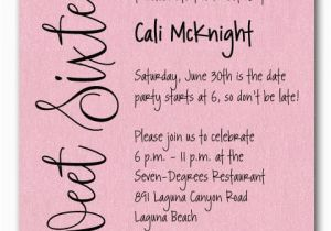 Sweet 16 Birthday Invitation Wording Shimmery Pink Sweet Sixteen Birthday Party Invitations