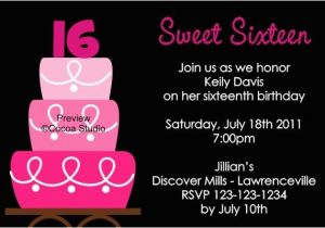 Sweet 16 Birthday Invitation Wording Sweet Sixteen Invitation Wording Template Resume Builder