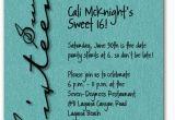 Sweet 16 Birthday Invitation Wording Sweet Sixteen Shimmery Teal Invitation 16th Birthday