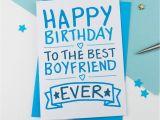 Sweet Birthday Card for Boyfriend Happy Birthday Boyfriend Card by A is for Alphabet