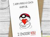 Sweet Birthday Ideas for Him I Choose You Pokemon Love Cute Boyfriend Card
