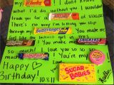 Sweet Gifts for Him On His Birthday for My Boyfriend On His Birthday Candy Birthday Card