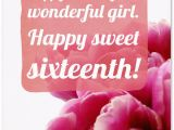 Sweet Message for Birthday Girl Sweet Sixteen Birthday Messages Adorable Happy 16th