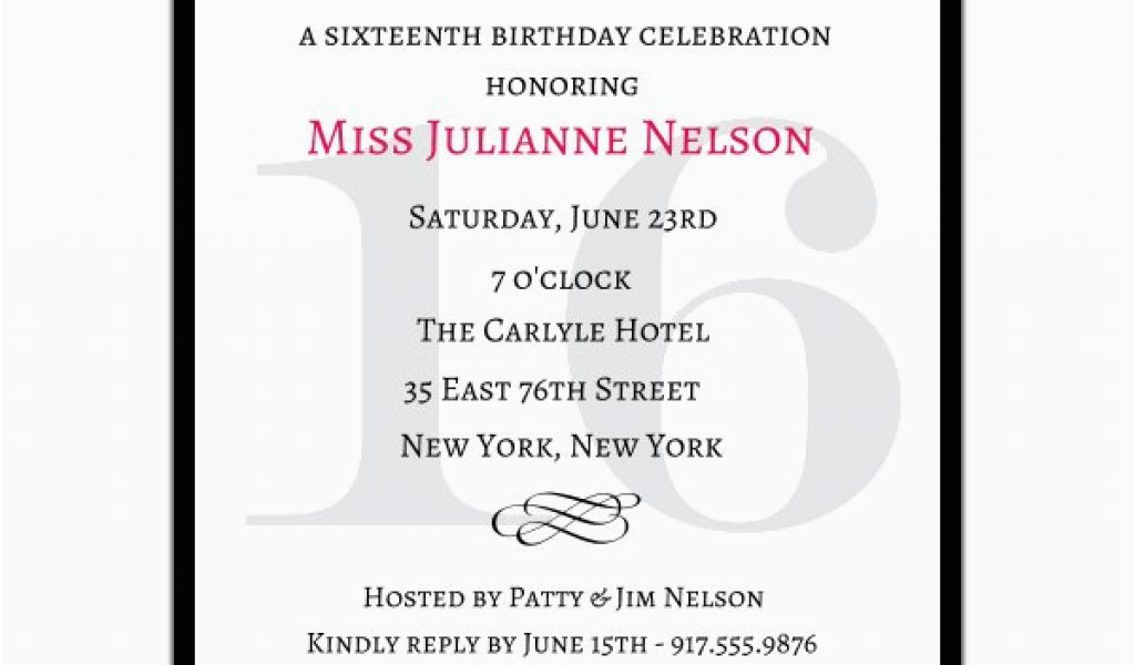 Download By SizeHandphone Tablet Desktop Original Size Back To Sweet Sixteen Birthday Invitation Wording