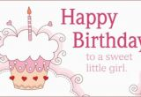 Sweet Words for Birthday Girl Free Sweet Girl Ecard Email Free Personalized Birthday