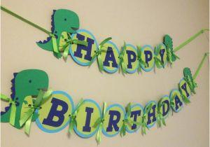 T Rex Happy Birthday Banner Boys Birthday Banner Dinosaur Birthday Decorations T Rex