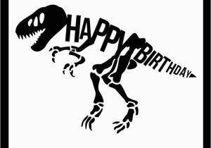 T Rex Happy Birthday Banner Happy Birthday Dinosaur Party Svg Me
