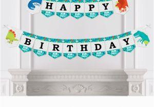 T Rex Happy Birthday Banner Roar Dinosaur Dino Mite T Rex Birthday Party Bunting