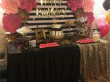 Table Decorations for 30th Birthday Party Kate Spade Birthday Party Candy Table Birthday Parties