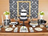 Table Decorations for 70th Birthday Gold Black Damask 70th Birthday Party Birthday Party