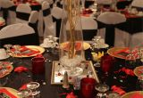 Table Decorations for A 50th Birthday Party Red Black and Gold Table Decorations for 50th Birthday