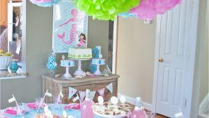 Table Decorations for Birthdays A Dreamy Mermaid Birthday Party anders Ruff Custom
