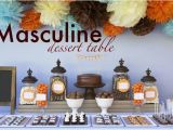 Table Decorations For Male Birthday Kara 39 S Party Ideas Masculine Dessert 30th