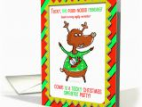 Tacky Birthday Cards Tacky Christmas Sweater Party Humor Reindeer Card 1000659