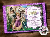 Tangled Birthday Invitations Personalized Printable Tangled Invitation Rapunzel Invitation Disney