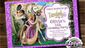 Tangled Birthday Invitations Personalized Printable Tangled Invitation Rapunzel Invitation Disney