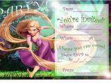 Tangled Birthday Invitations Personalized Rapunzel Birthday Party Invitation Ideas Bagvania Free