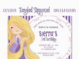 Tangled Birthday Invitations Personalized Rapunzel Inspired Party Invitation Tangled Custom