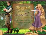 Tangled Birthday Invitations Personalized Rapunzel Tangled Personalized Birthday Party Invitation