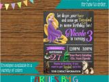 Tangled Birthday Invitations Personalized Rupunzel Tangled Chalkboard Birthday Party Invitations