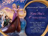 Tangled Birthday Invites Rapunzel Party Invitation Printable Templates